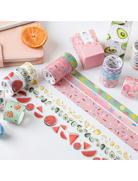 3 Pcs Creative Flower Washi Tape Cute Masking Tapes Kawaii Fruit Decorative Adhesive Tape For Kids Scrapbooking Diy Photos Albums by Ali Express.Com
