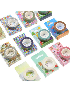 Cute Kawaii Plants Flowers Japanese Masking Washi Tape Decorative Adhesive Tape Decora Diy Scrapbooking Sticker Label Tools by Ali Express.Com