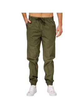 B Collection Men's Cuffed Pant   Green by B Collection