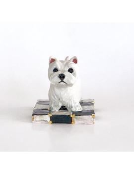 Small Westie Paperweight Handsculpted Ceramic With 22k Gold by Etsy