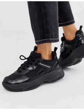 Calvin Klein Maya Chunky Sneakers In Black by Calvin Klein