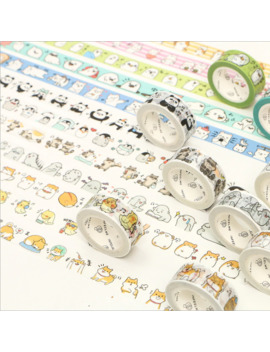 Cute Animals Round Animal Panda Penguin Raccoon Cat Washi Tape Adhesive Tape Diy Scrapbooking Sticker Label Masking Tape by Ali Express.Com