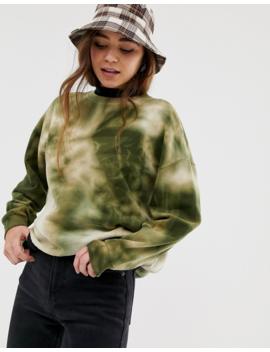 Pull&Amp;Amp;Bear Sweatshirt In Green Tie Dye by Pull&Amp;Bear
