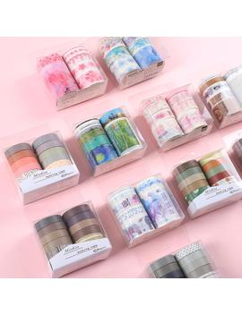 Jianwu 10pcs/Set Cute Basic Color Washi Tape Scrapbook Diy Masking Tape School Stationery Store Bullet Journal Supplies by Ali Express.Com