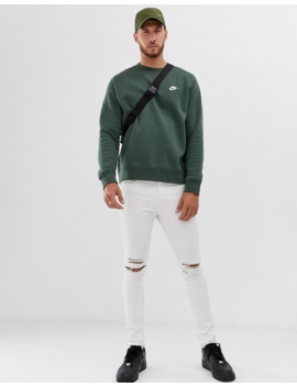Nike Club Sweatshirt Green by Nike