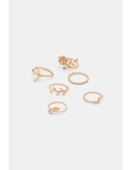Pack Of Floral Rings by Ardene