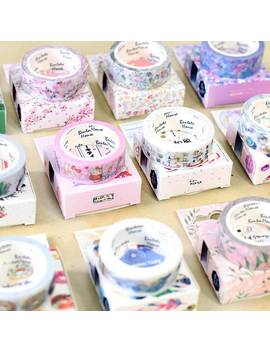15mm * 7m Cute Kawaii Flowers Cartoon Masking Washi Tape Decorative Adhesive Tape Decor Decora Diy Scrapbooking Sticker Label by Ali Express.Com