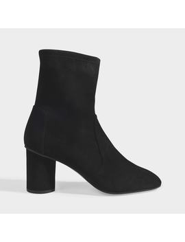 Ankle Boots Margo 75 In Black Suede by Stuart Weitzman
