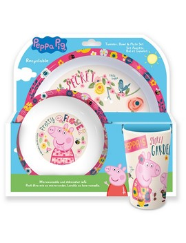 Peppa Pig Tumbler, Bowl And Plate Set by Peppa Pig