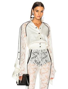 Lace Sleeve Ruffle Jacket by David Koma