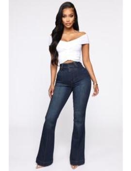 Nice For What High Rise Jeans   Dark Denim by Fashion Nova