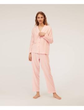 Różowe Długie Spodnie W Paski by Oysho
