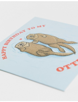 Central 23 Exclusive Otter Half Birthday Card by Central 23