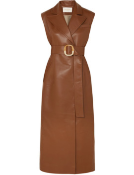 Belted Vegan Leather Dress by MatÉriel