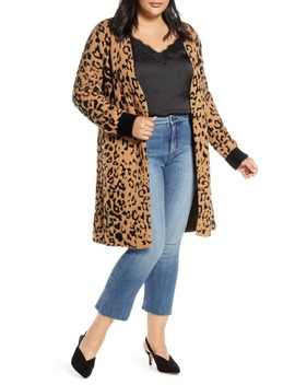 leopard-jacquard-eyelash-cardigan by 1state