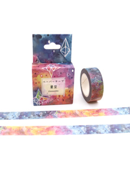 15mm*10m Box Package Beautiful Starry Sky Washi Tape Excellent Quality Colorful Paper Masking Tape Diy Decorative Tapes by Ali Express.Com