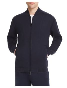 Jersey Zip Front Sweater by Emporio Armani