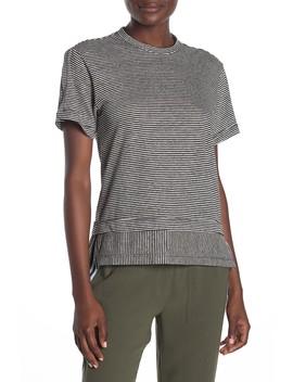Slit Sleve Stripe T Shirt by Derek Lam 10 Crosby