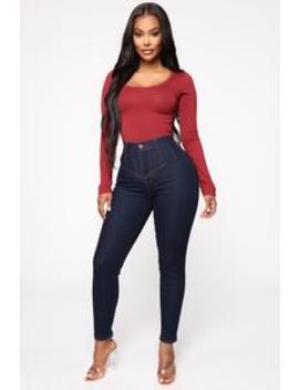 Jaded High Rise Skinny Jeans   Dark Denim by Fashion Nova