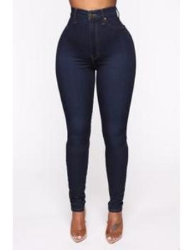 Flex Game Strong Super High Rise Jeans   Dark Blue Wash by Fashion Nova