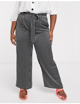 Koko Stripe Paperbag Trousers by Trousers