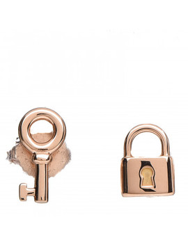Tiffany 18 K Rose Gold Mini Key And Lock Earrings by Tiffany
