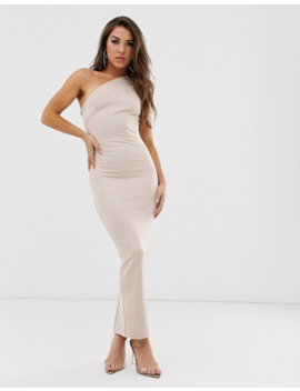 Asos Design One Shoulder Minimal Bandage Midaxi Dress by Asos Design
