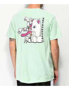 Ripndip Zipper Face Mint T Shirt by Ripndip