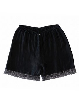 Botanica Workshop Cupro Vegan Silk Billie Midi Shorts   Black by Garmentory