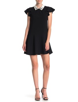 Sparrow Embroidered Collared Dress by Rebecca Taylor