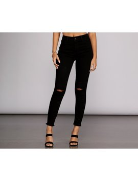 High Rise Cropped Skinny Jeans by Windsor