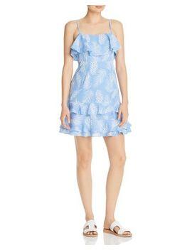 Ruffled Palm Print Dress   100% Exclusive by Aqua