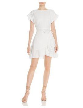 Ruffle Trim Tie Waist Dress   100% Exclusive by Aqua