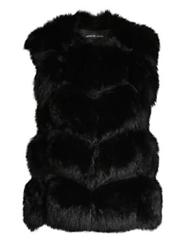 Let Out Fox Fur Vest by Adrienne Landau