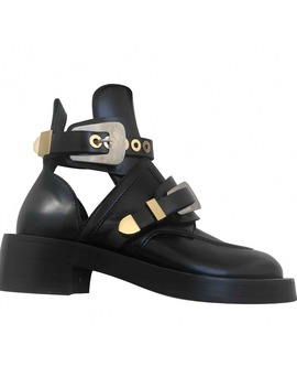 Ceinture Leather Buckled Boots by Balenciaga