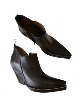 Cowboy Leather Western Boots by Céline