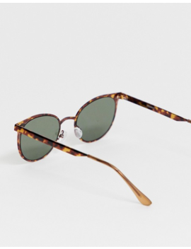 Asos Design Round Metal Sunglasses In Tortoiseshell by Asos Design