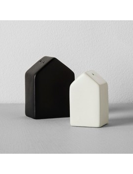 House Salt And Pepper Shaker Set (2pc)   Black/Cream   Hearth &Amp; Hand With Magnolia by Black/Cream