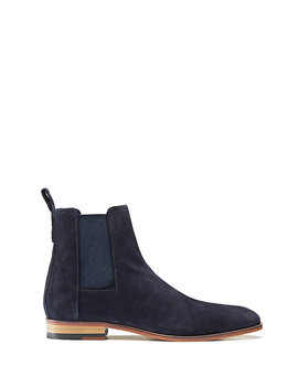 Suede Chelsea Boots With A Flex Foam Insole by Boss