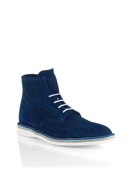 Lace Up Suede Boot 'destio' by Boss