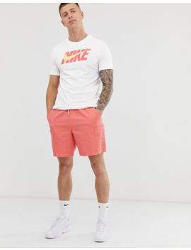 Nike Hybrid Logo T Shirt In White by Nike