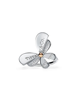 Return To Tiffany® Love Bugs 												  												  											 										 									 									Butterfly Ring In Sterling Silver And 18k Rose Gold by Return To Tiffany® Love Bugs