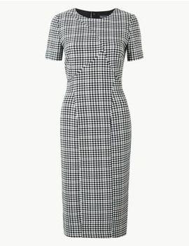 Checked Midi Bodycon Dress by Marks & Spencer