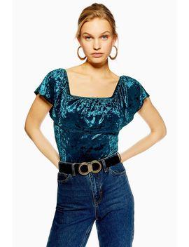 Bardot Velvet Bodysuit By Band Of Gypsies by Topshop