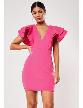 Robe Courte Rose à Volants by Missguided
