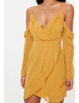 Robe Courte Jaune En Tulle Avec épaules Dénudées Petite by Missguided