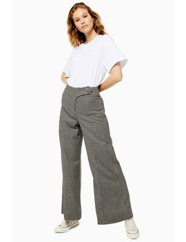 **Wide Leg Check Trousers By Boutique by Topshop