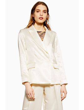 Satin Twill Blazer by Topshop