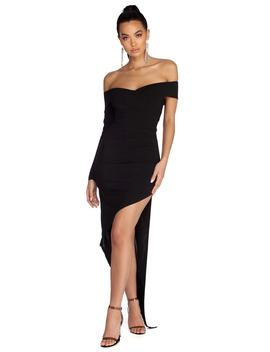 Addilyn Formal Asymmetrical Wrap Dress by Windsor