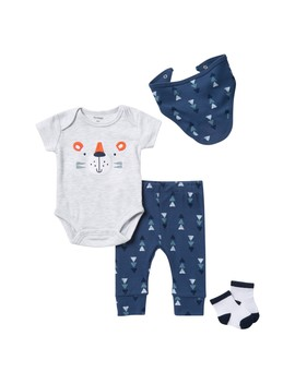 Tiger 4 Piece Layette Set (Baby Boys) by Petit Lem